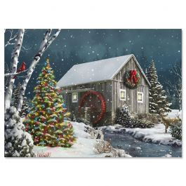 Falling Snow Christmas Cards