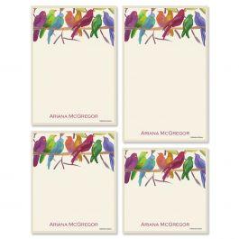 Flocked Together Notepad Set