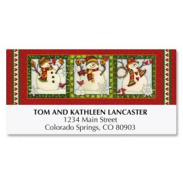 Snowman In Square Deluxe Address Labels