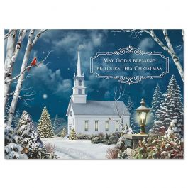 Holy Night Christmas Cards - Nonpersonalized