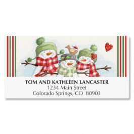 Snowmen Trio Address Labels