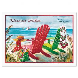 Beach Chairs Christmas Cards