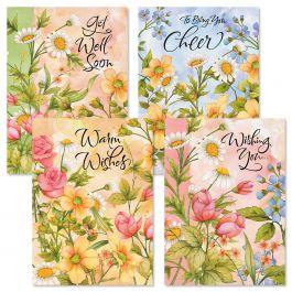 Watercolor Garden Get Well Cards