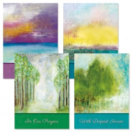 Soothing Serenity Sympathy Cards