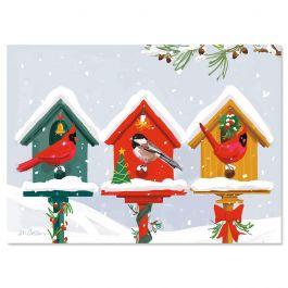 Holiday Birdhouse Christmas Cards