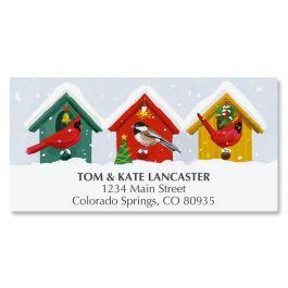 Holiday Birdhouse Deluxe Address Labels