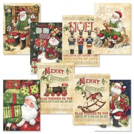 Retro Santa Christmas Cards Value Pack | Current Catalog