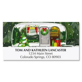 Christmas Getaway Deluxe Address Labels