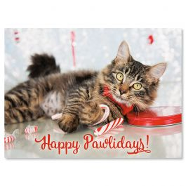 Happy Pawlidays Christmas Cards - Nonpersonalized