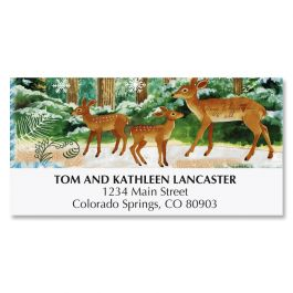 Deer Family Deluxe Address Labels