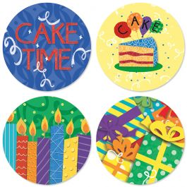Chalkboard Birthday Seals