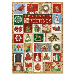 Christmas Stamps Christmas Cards - Personalized
