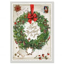 Wreath Collage Christmas Cards - Personalized