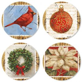 Christmas Stamps Seals (4 Designs)