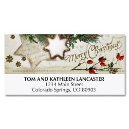 Wreath Collage Deluxe Address Labels