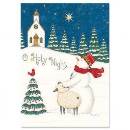 O Holy Night Religious Christmas Cards