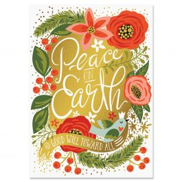 Peace on Earth Christmas Cards - Personalized