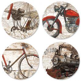 Vintage Transportation Seals (4 Designs)