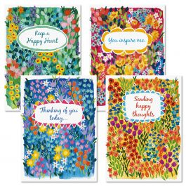 Floral Garden Thinking of You Cards