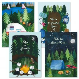 Camping Joy Birthday Cards