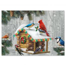Festive Feathered Friends Christmas Cards - Personalized