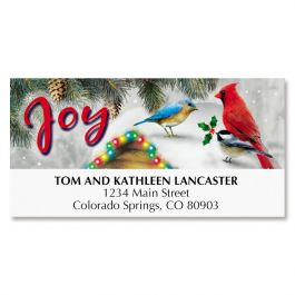 Festive Feathered Friends Deluxe Address Labels