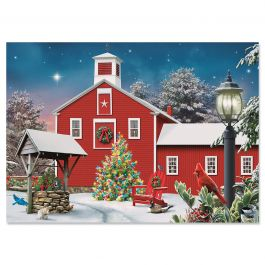 Heavenly Light Christmas Cards - Personalized