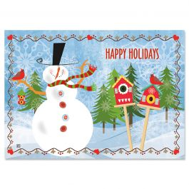 Jolly Snowman Christmas Cards - Personalized