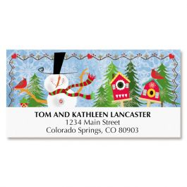 Jolly Snowman Deluxe Address Labels
