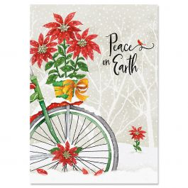 Bicycle Joy Christmas Cards - Personalized