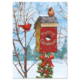 Birdhouse Christmas Cards - Personalized