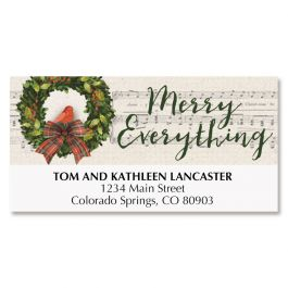 Merry Wreath Deluxe Address Labels