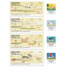 Dog Gone Cute Single Checks With Matching Address Labels