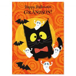 Grandson Halloween Card