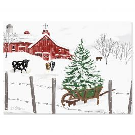 Farmland Christmas Cards - Personalized