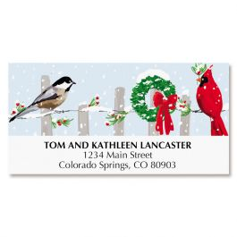 Bird Fence Deluxe Address Labels