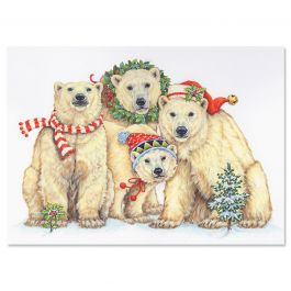 Polar Bears Christmas Cards - Personalized