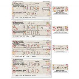 Hand Stitch Duplicate Checks With Matching Address Labels