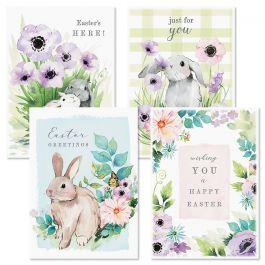 Bunny Garden Easter Cards
