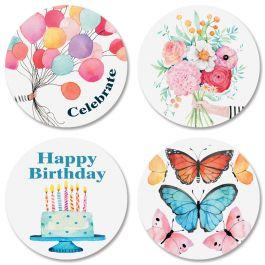 Happy BirthdaySeals (4 Designs)