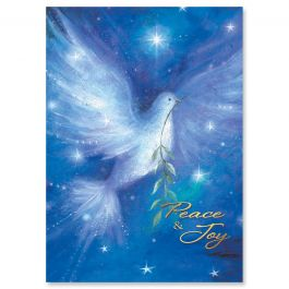 Christmas Dove Christmas Cards - Personalized