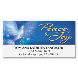 Christmas Dove Deluxe Address Labels