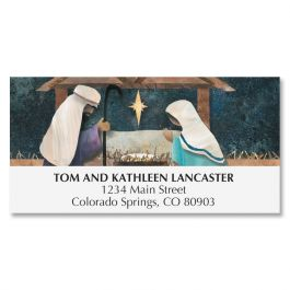 Christmas Nativity Deluxe Address Labels