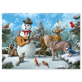 Cowboy Sing-A-Long Christmas Cards - Personalized