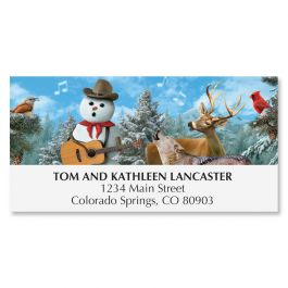 Cowboy Sing-A-Long Deluxe Address Labels