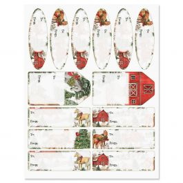 Holiday Horses Gift Wrap To/From Labels