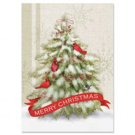 Winter Tree Christmas Cards - Personalized