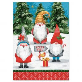 Holiday Gnomes Christmas Cards - Personalized