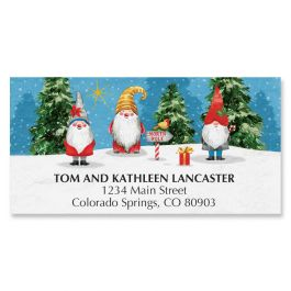 Holiday Gnomes Deluxe Address Labels