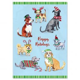 Happy Holidogs Christmas Cards - Personalized